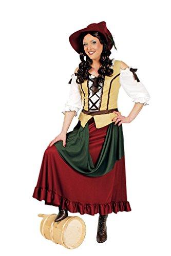 ittelalter-Kostüm Magd Burgfräulein Kostüm Tavernen Wirt-in Damen-Kostüm Kleid Größe 36/38 ()