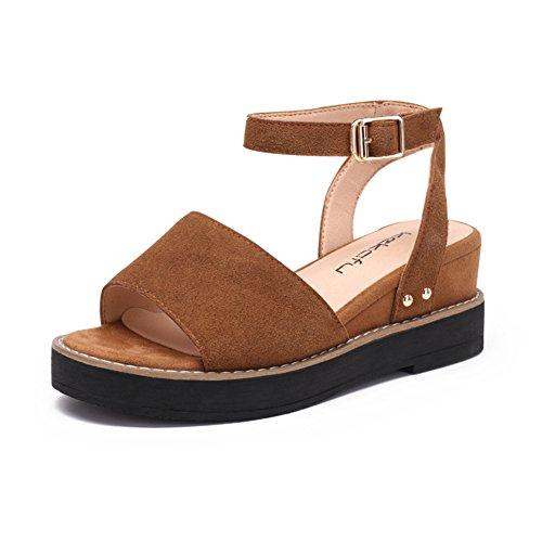 Boucle D'un Mot D'été Avec Des Chaussures De Femmes/Derme épaisse Semelle Chaussures C