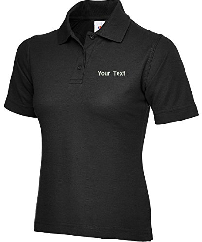 swagwear Embroidered Your Text Logo Personalised Ladies Polo 17 Colours (XS-4XL) 106