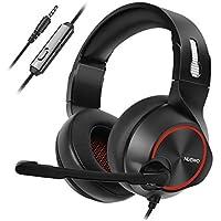 NUBWO Casque Gamer PS4, N11 Casque Gaming Xbox One Stéréo Filaire PC avec Micro à réduction du Bruit, Casque Over Ear avec Contrôle du Volume&muet pour PC, Mac, PS4, Xbox 1 Game- Red