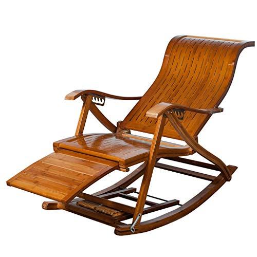 HZC Holz Schaukelstuhl Vintage Liegestuhl Liegestuhl Outdoor Relax-Chair Sonnenliegen Verstellbare Liegestühle for Terrasse Veranda Garten Rasen Camping -