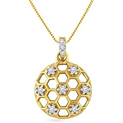 Malabar Gold and Diamonds 14KT Yellow Gold Pendant for Men and Women