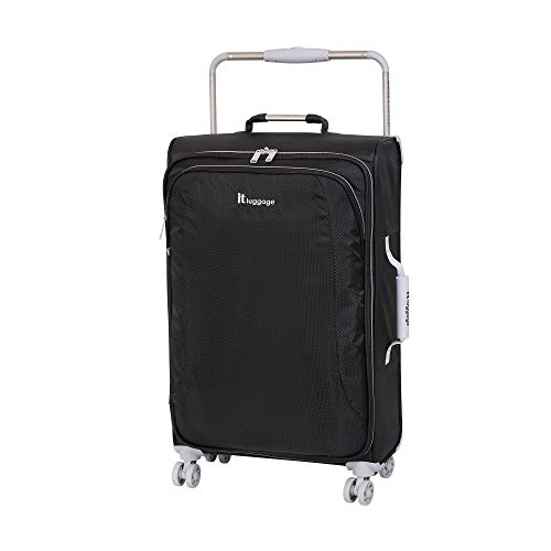 it luggage World's Lightest New York 8 Wheel Super Lightweight Suitcase Medium Koffer, 70 cm, 56 liters, Schwarz (Raven)