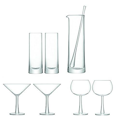 LSA International gin cocktail Set Clear, Set of 7