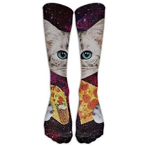 Gped Kniestrümpfe,Socken Space Taco Laser Cat Knee High Graduated Compression Socks For Women And Men - Best Medical Nursing Travel Flight Socks Running Fitness Length 50CM