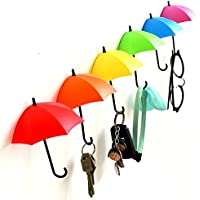 SWAB Colorful Umbrella Key Holder, Key Hanger,Wall Key Rack,Wall Key Holder,Key Organizer for Keys, Jewelry and Other Small Items(03 Pcs)