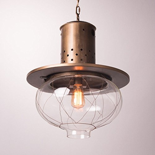 $Beleuchtung Vintage Vintage Klarglas Shade 40W Deckenleuchte Pendelleuchte Kronleuchter Licht E27 Edison Glühbirne 110-220V Home Interior Glühbirne [Energieklasse A +] Innenleuchten