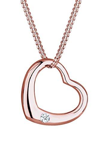 Diamore Halskette Herz Liebe Diamant (0.03 ct.) 925 Silber