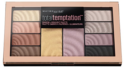 Maybelline New York Total Temptation Lidschatten-Palette, 8 Lidschatten und 2 Highlighter