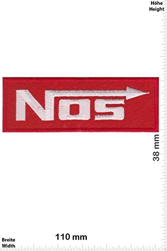 Patch - NOS - Nitrous Oxide Systems - rot - Motorsport - Motorsport - NOS - Aufnäher - zum aufbügeln - Iron On - Nos System