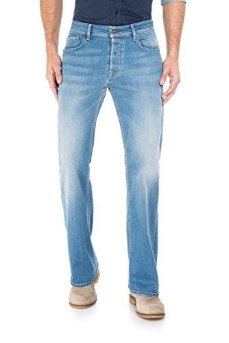 Salsa - Derby Jeans mit leichtem Wasch- und Schuhbein - Herren Blau