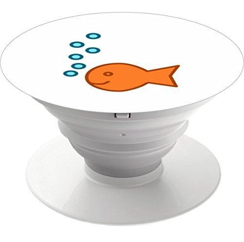 Multifunktions-Handy Halter. Expansion Ständer und Griffigkeit Halterung für Smart Handy und tablet-goldfish Bubbles