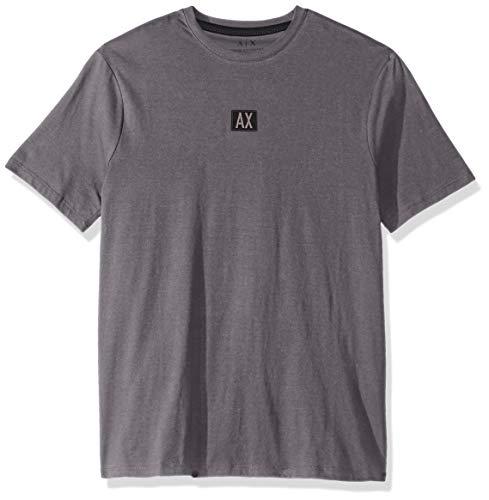 Herren Short Sleeve Crew Neck Logo T-Shirt, Magnet, Mittel ()