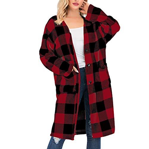 Dasongff Sweater Damen Mantel Langarm Open Front Gitter Cardigan Schnitt Strickmantel Langshirt mit Taschen Outwear Jacket übergangsjacke Sweatjacke -