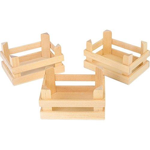*Kleine Holzkisten natur im 3er Set, Dekokisten sind ein Allroundtalent, als Kaufladen-Zubehör oder Aufbewahrung von Obst und Gemüse, Größe ca. 10 x 8 x 5,5 cm*
