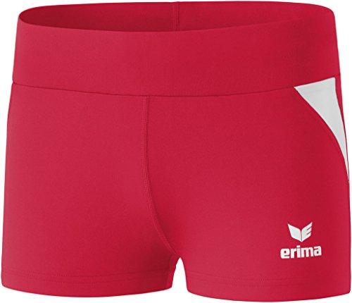 Erima Damen Shorts Hot Pant, Rot/Weiß, 42, 829410