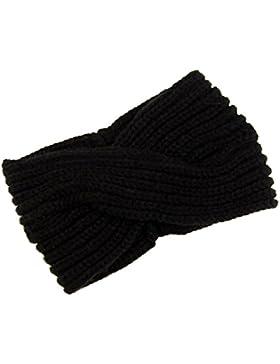 TININNA Invierno Accesorio Para El Pelo,Diadema Banda Cinta de Pelo Lana Crochet Tejido de Punto para Mujer Invierno...