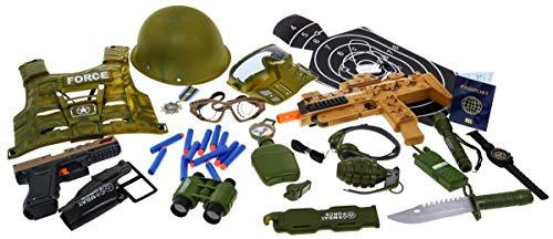 Kostüm Kleinkind Spielzeug Soldat Kind & - BSD Soldat Rollenspiel Set - Soldat Kostüm für Kinder, Soldat Spielset mit Spielzeugwaffen und Zubehör