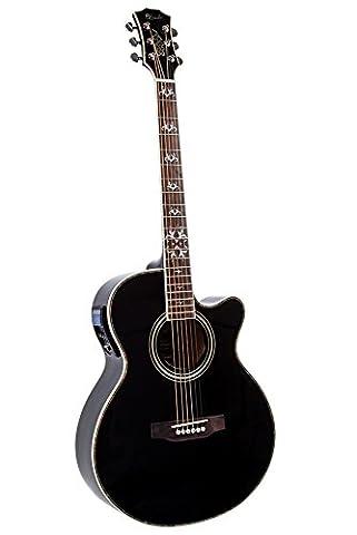 Lindo LDG-BF Electro-Acoustic Guitar with Active Pre-amp, Digital Tuner, XLR/Jack