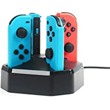 AmazonBasics Charging Station for Nintendo Switch Joy-con Controllers - Black