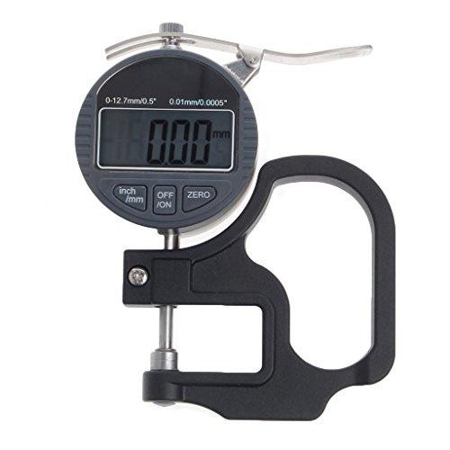 Guangtian 0-12,7 Mm Elektronisches Mikrometer Digitales Dickenmessgerät 0,01 Mm Tiefenmessgerät Für Papier Leder Tuch Draht Messwerkzeug (Tuch Draht)