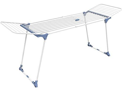 GIMI Dinamik 30 Stendibiancheria da Pavimento Estensibile in Acciaio, Stendino da 27 m