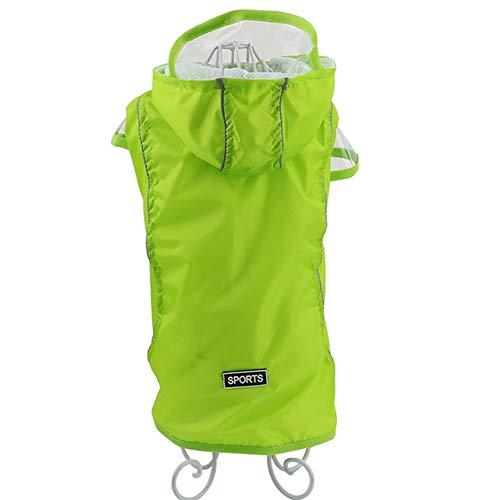 Feidaeu Pet Raincoat Outfits Ultraleichte, Wasserdichte, Winddichte und atmungsaktive Hundemanteljacke