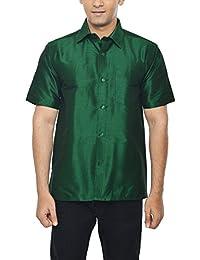 Silk men 39 s shirts buy silk men 39 s shirts online at best for Mens silk shirts amazon