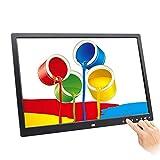Digital Photo Frame,17-Zoll 1440x900 HD LED Touch-Button Multifunktions-Werbemaschine Elektronischer Bilderrahmen mit 16G-Speicher,Black