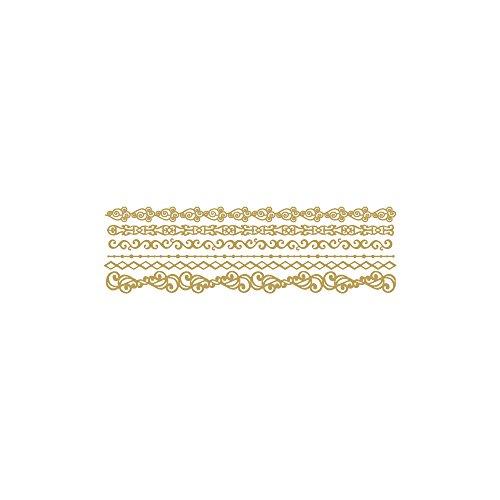 Rayher 30114616 Klebemotiv Bordüren, 10x23cm, Spiegelfolie, gold