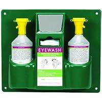 Heathrow Scientific HD1020B - Estación de lavado de ojos con 2 botellas de 1 L (355 mm x 425 mm x 105 mm)