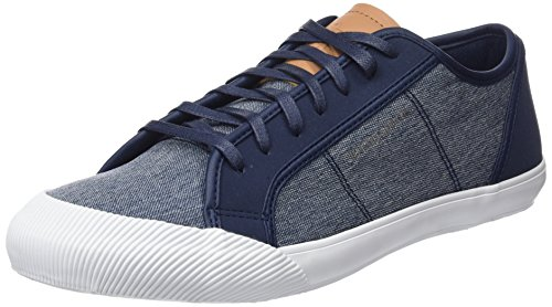 Le Coq Sportif Deauville Craft Dress Blue/Brown Sugar, Sneaker Uomo, Blu Bleu, 46 EU