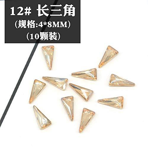 Nagel Jewelry_Wholesale New Net Red Maniküre Diamant Flachen Boden Luxus Champagner Japanischen Nail art Nail-XB-12 Yangtze River Delta (10 stücke) Japanischen Boden