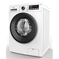 Midea 7 Kg 1400 RPM Front Load Automatic Washing Machine, White - MFG70, 1 Year Warranty