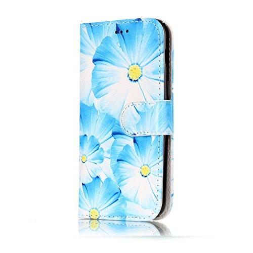 Galaxy A3 2017 Coque Mode,Coque Cuir Etui Pour Samsung Galaxy A3,Ekakashop Bookstyle Flip Cover Clapet Rabat Shell Couvercle Magnétique Portefeuille Housse Protectrice Wallet Case Etui avec Motifs de  Orchidée