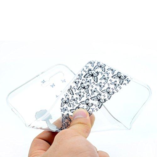 Skitic TPU Doux Coque pour iPhone 7 Plus, Élégant Ultra Mince Transparente Crystal Clair Cute Cartoon Pattern Flexible Léger Couverture Anti Rayure Coquille Housse Protection Etui Anti Choc Arrière Ca Style 05