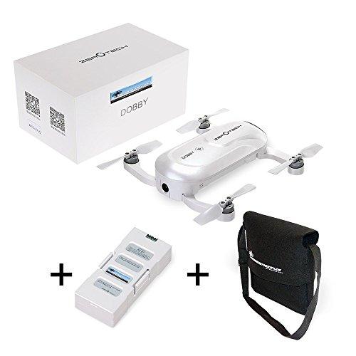 *Zerotech Dobby 4K Selfie Drohne – Ultraleicht 200 Gramm – kleinster GPS Quadrocopter – Sonderedition mit Ersatzakku und Flugtasche – APP Steuerung*