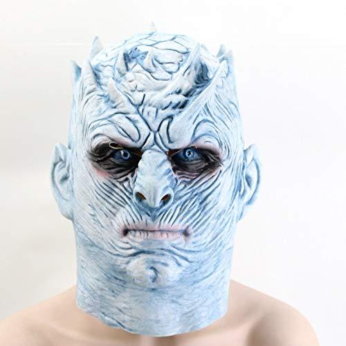 UDstrap Game of Thrones Halloween Mask Night Es King Walker Face Night Re Zombie Latex Maske Erwachsene Cosplay Throne (Zombie Brand Kostüm)