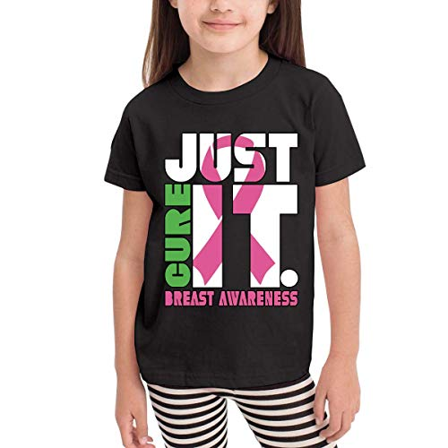 Just Cure Breast Cancer Awareness 2-6 Years Old Kinder Child Short Sleeve T-Shirt -