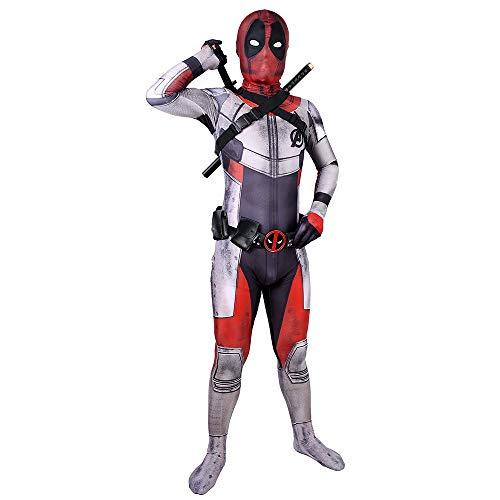 nder Quantenkrieg Spider-Man Halloween Kostüm Overall 3D Print Spandex Spiderman Cosplay Body,Child-M ()