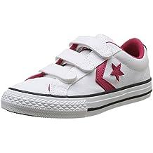Converse Star Player 3V Ox - Zapatillas de Deporte de canvas para niño mixtos