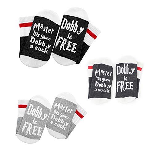 EisEyen Dobby is Free Socken Paar Socken Lustige Unisex Damen Herren Baumwolle Socken Geschenk