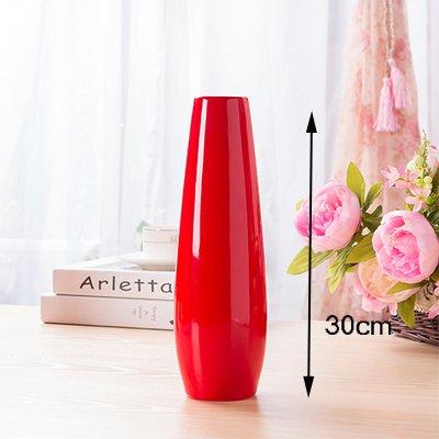 Fairy shop Rot Hochzeit Vase Hauptdekorzusätze Keramik Vase Hochzeit Feier Chinesische Rote Herzen Flasche Vase, A4 30 Cm (Vase Rot Herz Glas)