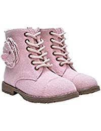 Charlie And MePink Ice Ice Princess Girls Flower Canvas Boots - Sandalias con cuña chica