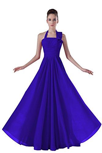 Bridal_Mall - Robe - Trapèze - Sans Manche - Femme Bleu Marine