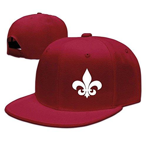 AOHOT Herren Damen Baseball Caps,Hüte, Mützen, Classic Baseball Cap, Adjustable Baseball Hat Caps Unisex/Men/Women - Fleur De Lis -