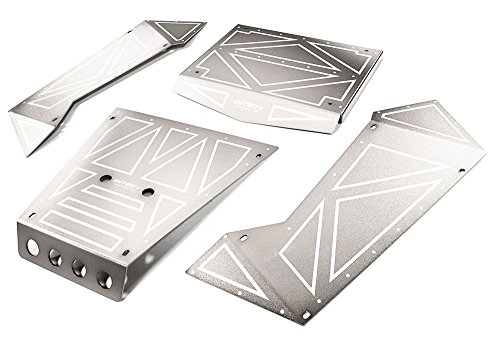 Integy RC Model Hop-ups C27006SILVER Aluminum Alloy Panel Kit for Axial 1/8 Yeti XL Rock Racer Buggy - Yeti Rc-kit
