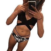 Luckycat Trajes de una Pieza Bikini Enteros Sexy Mujer Verano 2019 Ropa de Playa Bañador Espalda