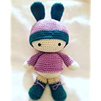 BettyBunny, bambola amigurumi. bambola all'uncinetto regalo per bambini e adulti. idea regalo. pupazzo. bambola imbottita fatta a mano. rosa