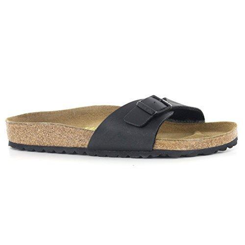 Birkenstock, madrid bs 0040793, sandali, donna, nero (black leather), 36 eu
